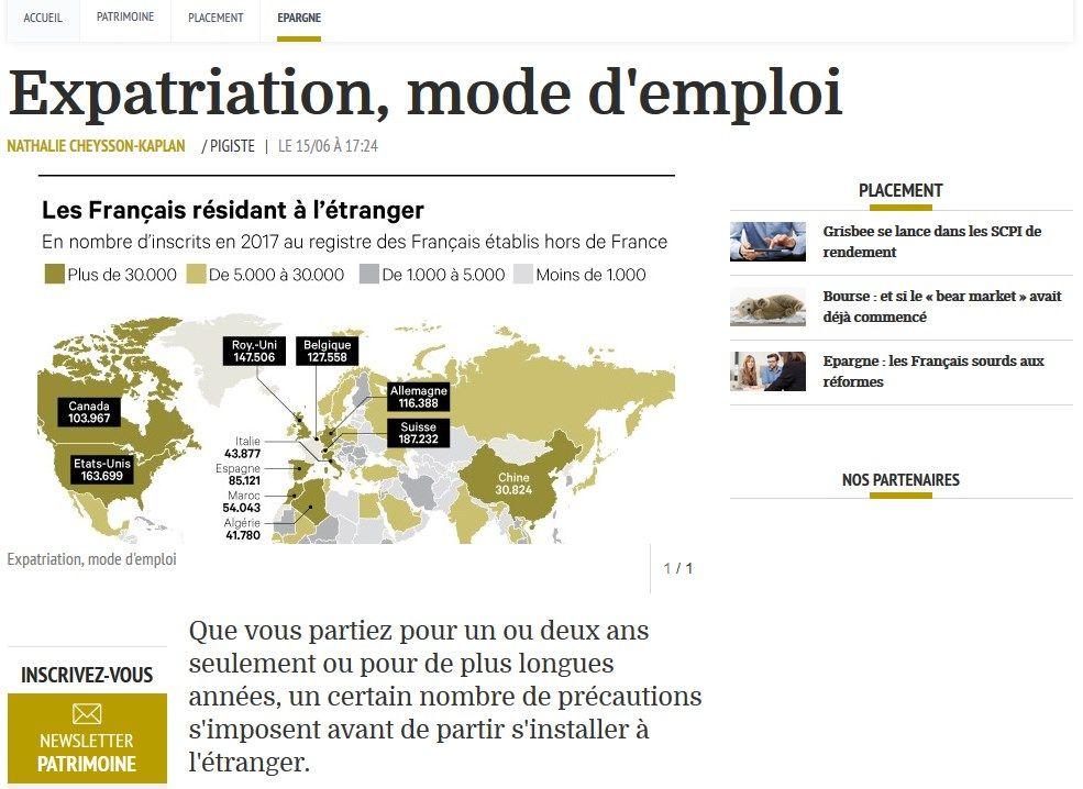 Screenshot article Les Echos Patrimoine 15/06/2018